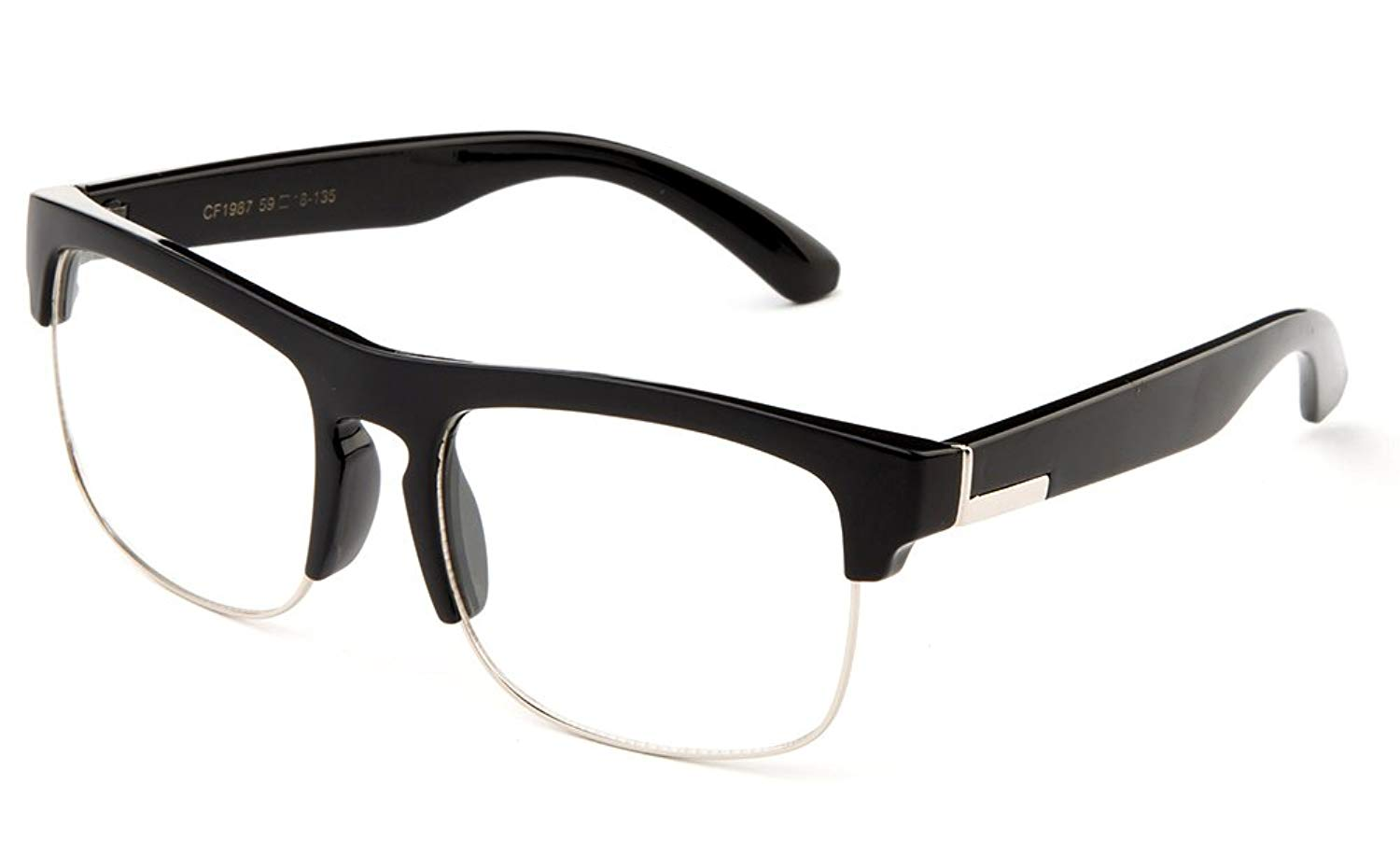 5e3cf3feae Get Quotations · Newbee Fashion- Half Frame Retro Over Size Large Reading  Glasses Readers Fashion Rimless