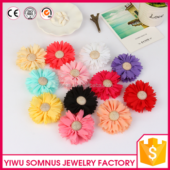 7cm Stock Artificial Flowers Imported Form China All Types Of Fabric Flower Sfor Dresses