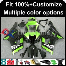 INJECTION MOLDING panels Fairing black green For Suzuki K3 GSXR-1000 2003 2004 GSX R1000 GSXR1000 GSXR 1000 Fairing