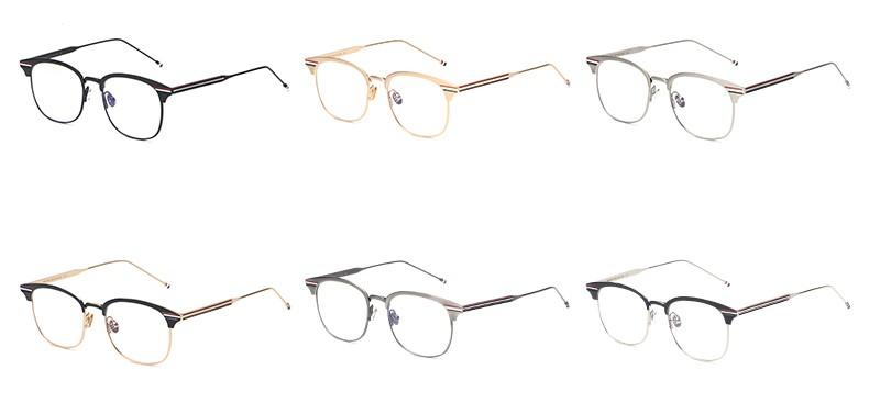 54eb5e0477 Wholesale Peekaboo Fashion Metal Gold Frame Glasses For Men Computer ...