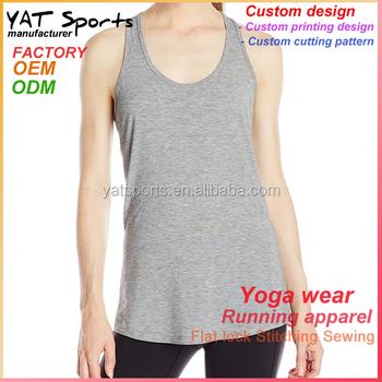 9c0ffe0fdb5e05 92% Nylon 8% Spandex Ladies Running Top Fitness Plain Gym Tank Tops ...