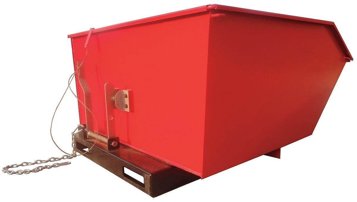 "Dayton Self-Dumping Hopper, 1/2 cu. yd. Volume Capacity, 4000 lb. Load Capacity, 25"" Overall Width - 5PKF2"