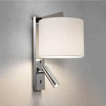 New Idea custom-made Hotel Guestroom Bedside wall lights modern lights with fabric led reading lights