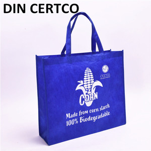 DIN CERTCO Approved Eco friendly biodegradable Polylactic Acid grocery reusable pla bags