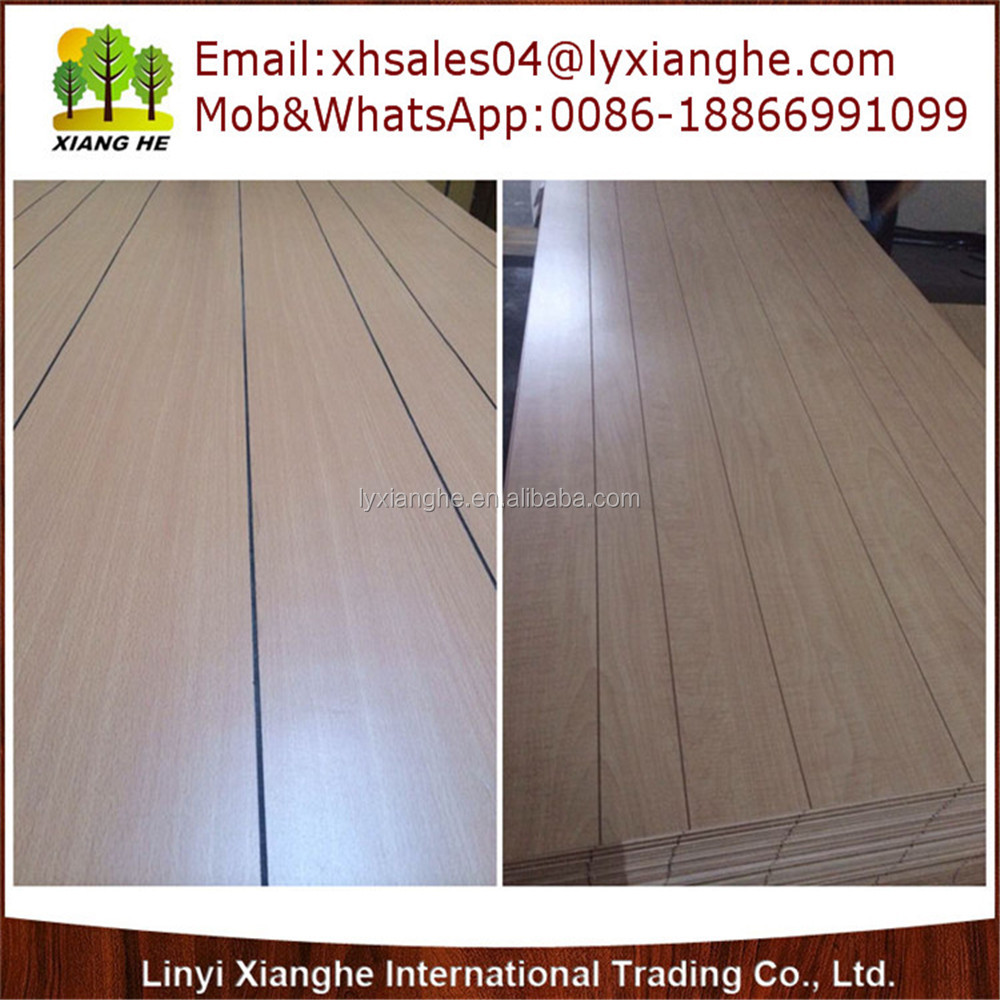 Factory Directly Sale Paper Overlay Plywood with Grooves
