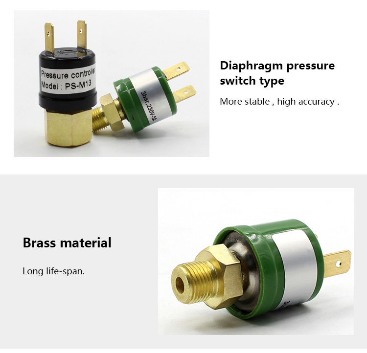 Refrigeration pressure controller switch