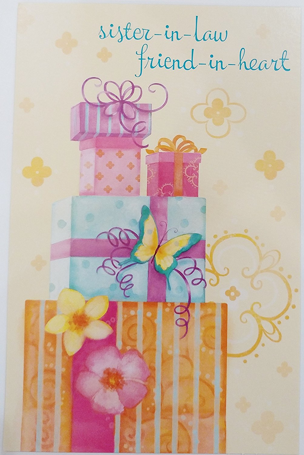 Buy Happy Birthday Greeting Card For A Special Sister In Law Gold