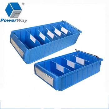 Warehouse Shelf Compartment Bins Plastic Storage Tray for Lean-lift