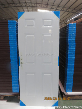 3 Panel Primed White Metal Doors With American Style Cheap