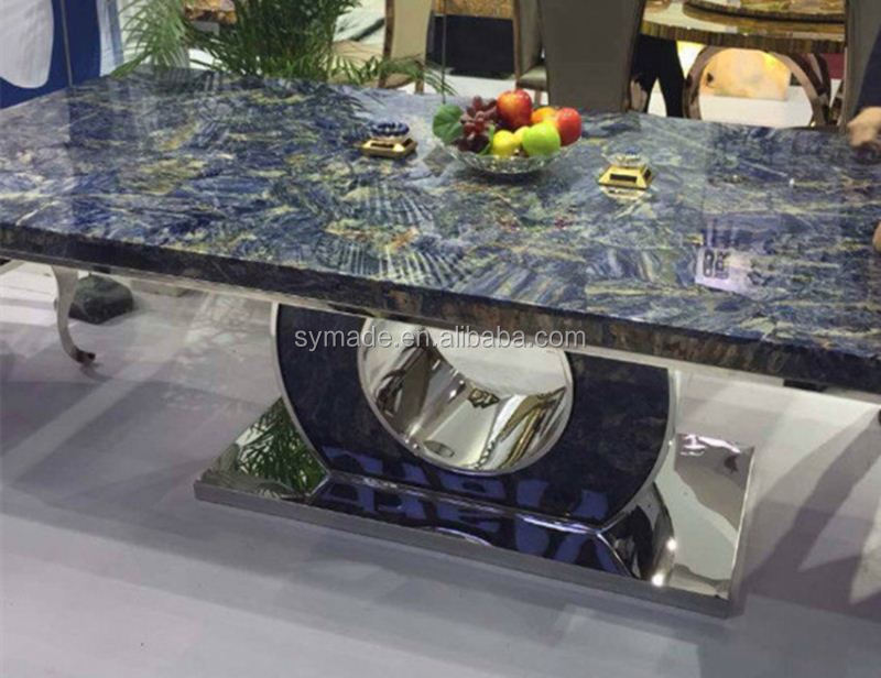 Factory price funiture Natural semi precious wholesale gemstone blue sodalite marble table/funiture