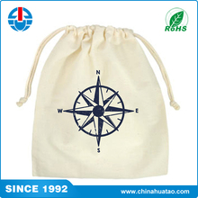Fugang High Quality Small Size Cotton Drawstring Shoe Bags With Low Price