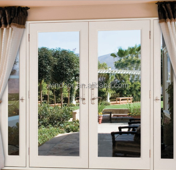 Experienced factory supply plastic interior doors double glazed tempered glass PVC door, cheap price house interior doors pvc