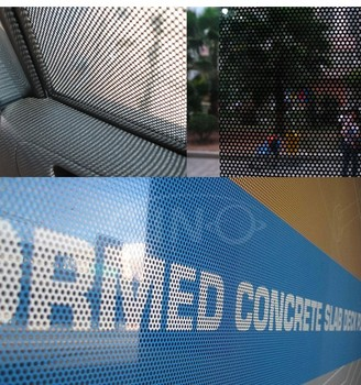 Commercial Self Adhesive Reusable Perforated 3m Vinyl Film