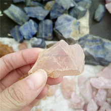 Natural not polished Rose Crystal Rough Rock for Carvings