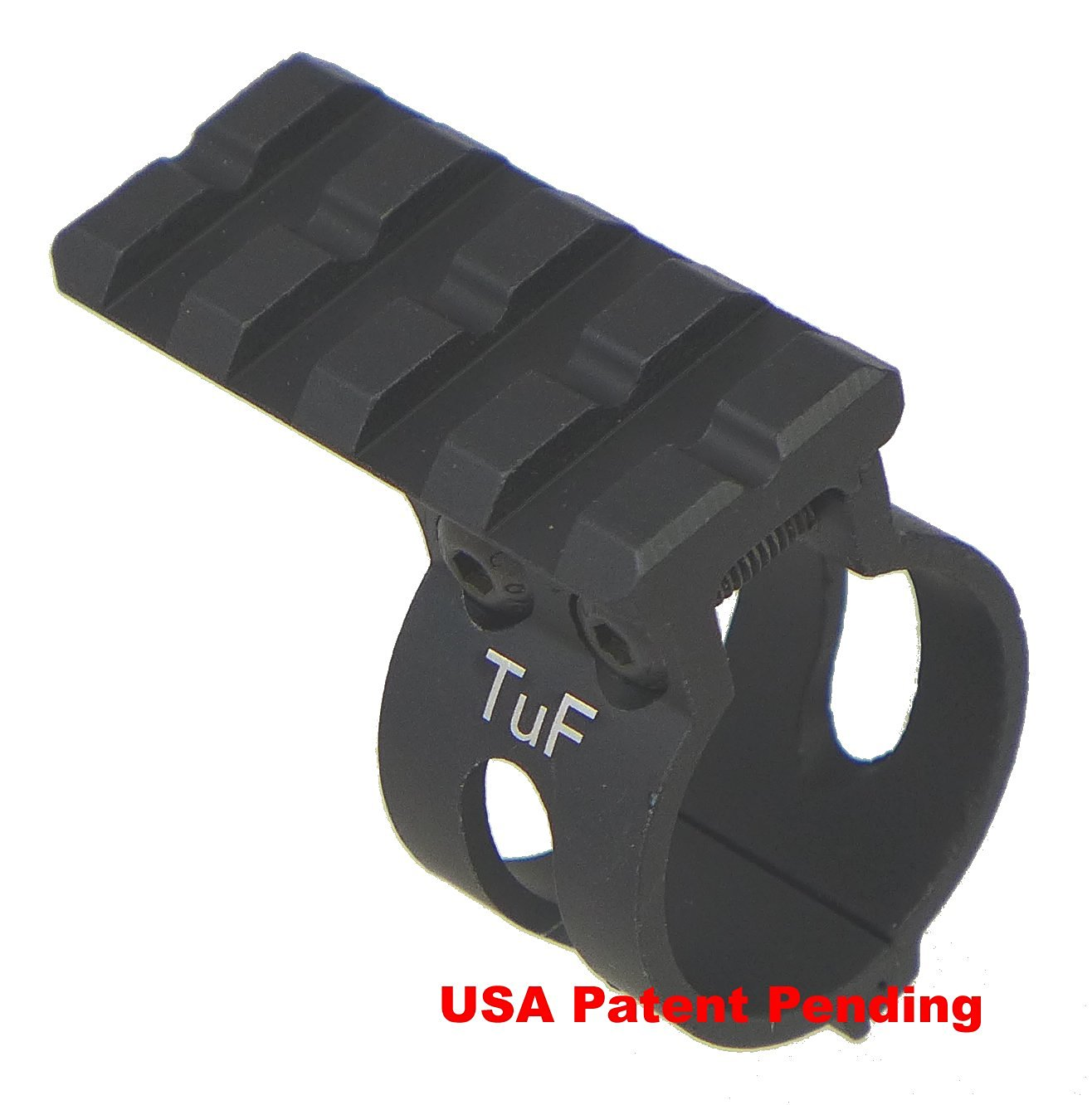 "TufForce 1"" Tube Ring or Mount, MT-25T4B, Clamp on Scope, Shotgun 1"" barrel or Magazine tube, patent granted"