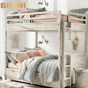 Bisini American Style Kids Wooden Bunk Bed,Children Bedroom