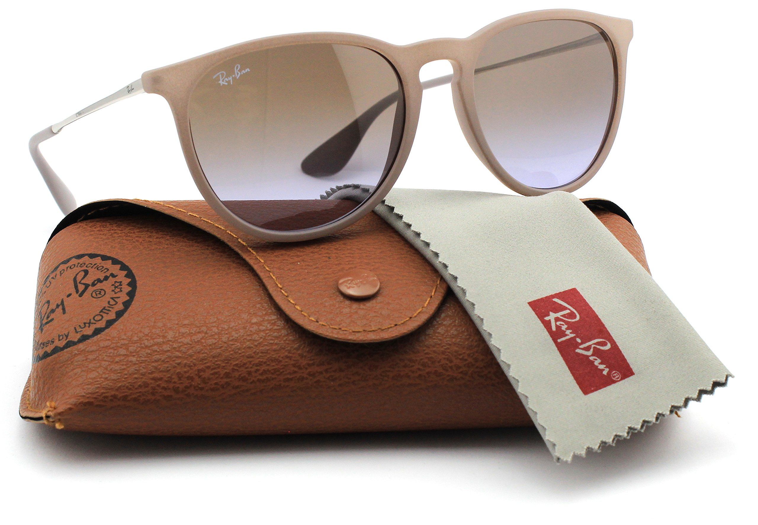 Ray-Ban RB4171 600068 Erica Sunglasses Dark Rubber Sand Frame   Brown  Gradient Lens 21a1777a4781