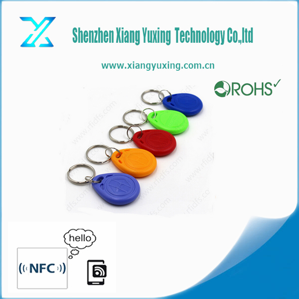 TK4100 or EM4100 barcode rfid key tag/printable rfid key tag