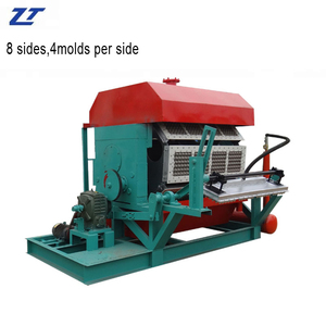 crepe paper curling machine Automatic carton egg tray machine low cost Paper pulp molding machine factory