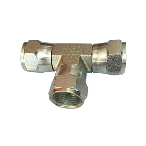 steel female tee and elbow tube fittings