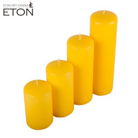 2017 new designed staining pillar candle with pure cotton wick