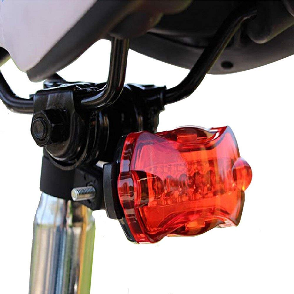 Mercery Red Warning FlashingBicycle Rear Lights Waterproof Bike Taillight Super Bright Easy Installation LED Powerful Mountain Rear Lamp Optimum Cycling Safety Equipment Tail-lamp Light