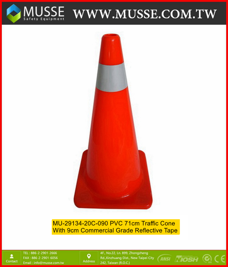 MU-29134-20C-085 PVC 71cm tpvc cone with Reflective Tape