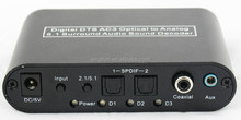5.1 Audio Digital Sound Decoder Converter - Optical SPDIF/ Coaxial Dolby AC3 DTS to 5.1CH Analog Audio (6RCA Output)