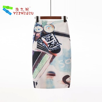 YIZHIQIU Custom Print Sexy Office One Step Skirts