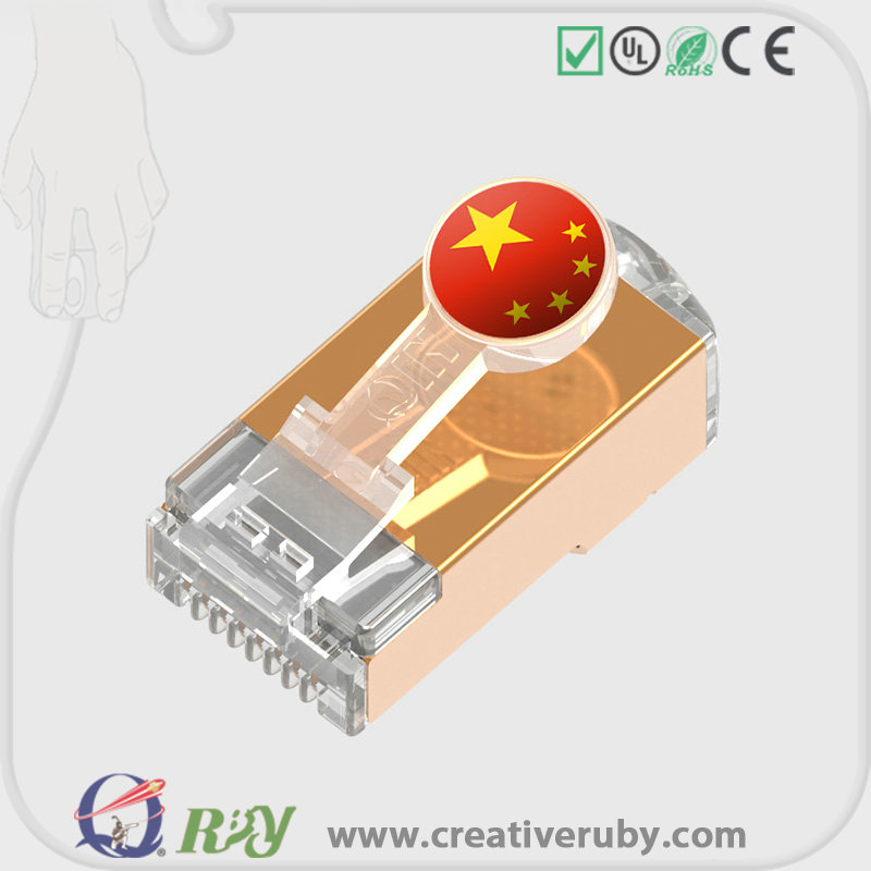 Credit sale for agent !CAT5 CAT5e CAT6a High quality fashionable 8P8C male Network RJ45 connector