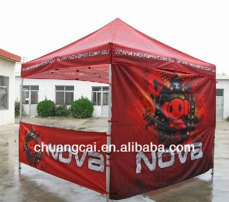 Logo according to customer need fiberglass folding tent pole