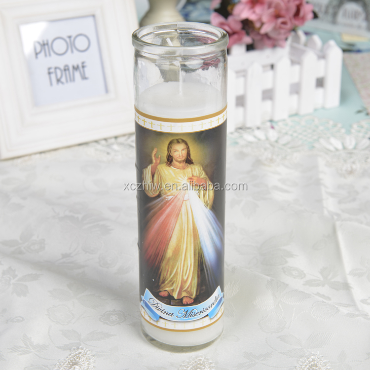 EI MILAGRO DE TEPEYAC Cheap Religious Candles In Different Sizes Factory Direct Sell