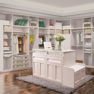Luxury wardrobe in modern style white oak wardrobe diy wardrobe for bedroom