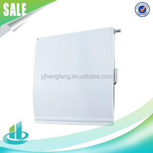 Bathroom accessories stainless steel metal iron cover shelf toilet roll paper towel holder with plastic plate