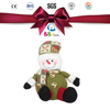 santa Clause christmas ornament plush toys /atthe top of the decoration