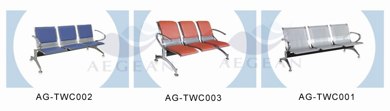 AG-TWC001 CE ISO cheap three seats clinic public reception room chairs