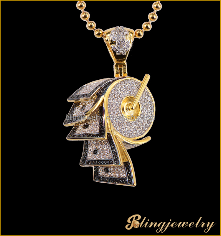 2017 New Art Design CZ dollor Pendant hiphop men