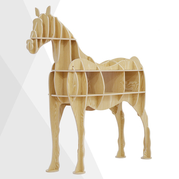 Wonderful 4 Colors European Creative Wooden Horse Furniture Animal Decorative  Bookshelf Nordic DIY Table