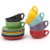 12 pcs ceramic stoneware coffee cup and saucer sets