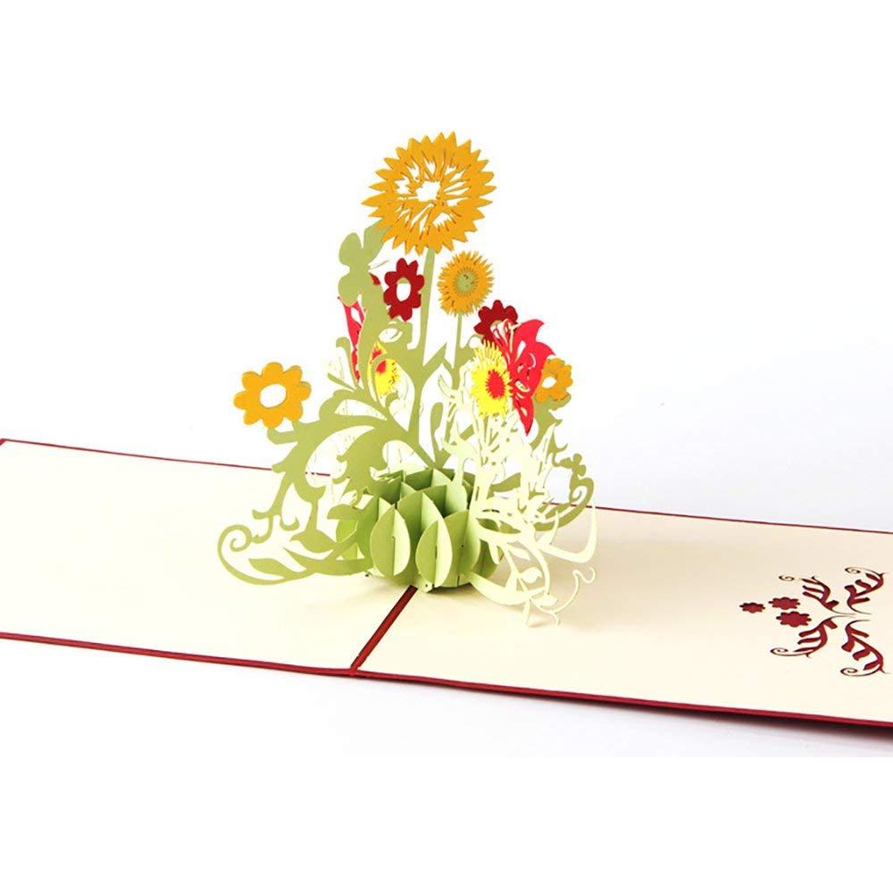 Гифки, объемная открытка цветы фильм