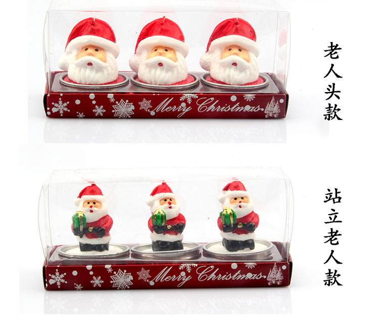 Christmas Eve Santa Claus shape candle for home decorative