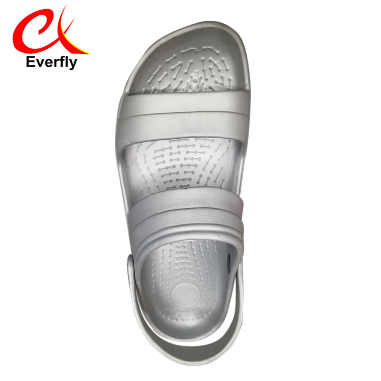 disposable pvc footwear custom logo silver sandals slides