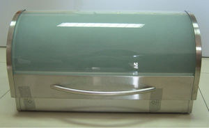 Stainless Steel Bread Box With Gl Lid