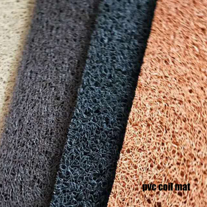 Hot selling PVC coil / noodles Mat With Double Color Spike Backing/Hot Sale Pvc Floor Mat Pvc Coil Carpet With Foam backing