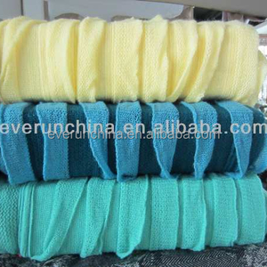 50CI91-1 100%acrylic frilly tricot knit blanket shawl throw with flange