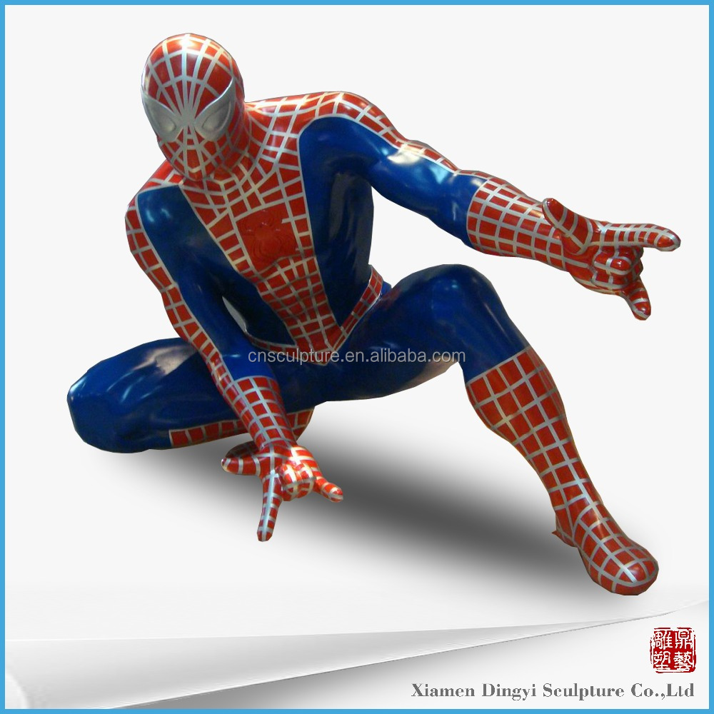 Movie character Fiberglass Spider man action figure