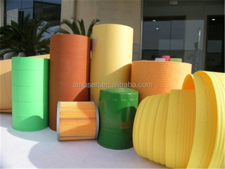 2015 Hebei Amusen Air Oil Fuel Filter Paper Wooden Pulp +Acrylic Resin Coated Paper AMS002