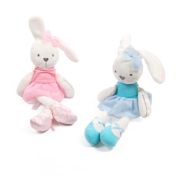 Customized Cute Baby Dolls comfort sleeping plush toys rabbit