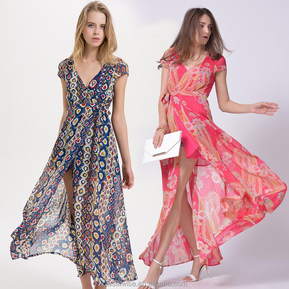 Catálogo de fabricantes de Vestidos Largos Impresos Del Verano De La ...
