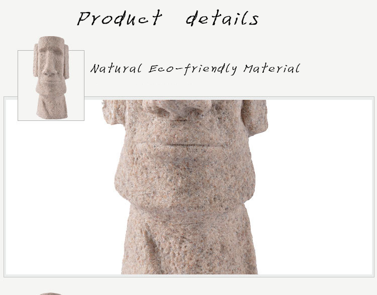 Classic Shots Easter Island Statues Easter Gifts Creative Household  Decoration Fine Sandstone Polished Crafts - us64 22e48f9fdd